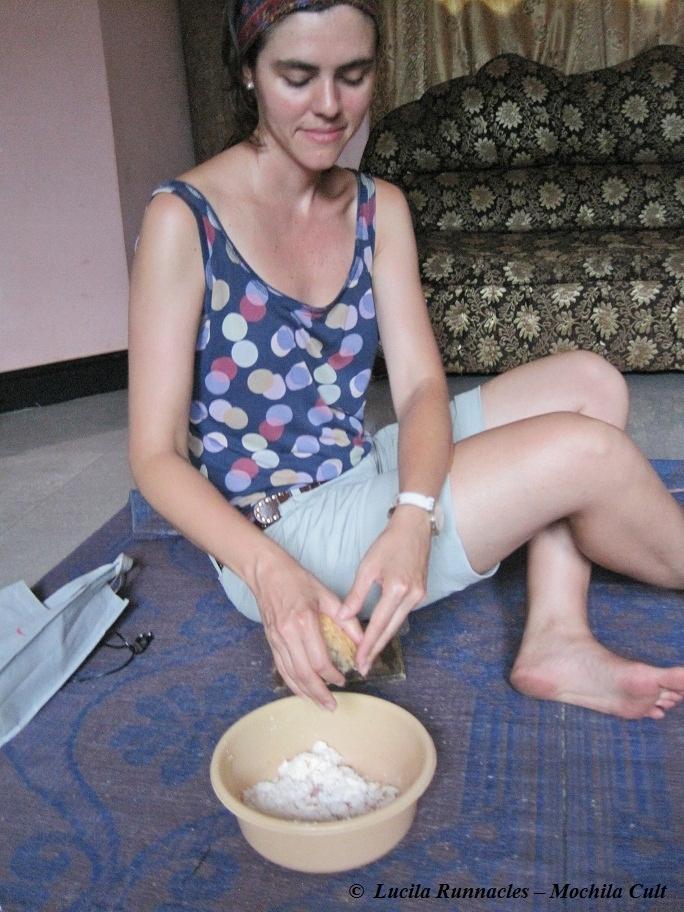 Esse é o banquinho pra ralar o coco