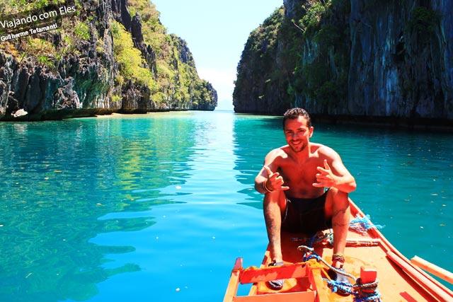 Para o Guilherme, o El Nido, nas Filipinas, foi o lugar mais lindo que esteve