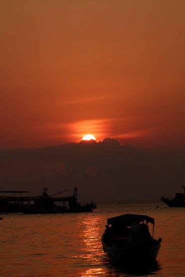 Pôr do sol em Koh Tao, Tailândia