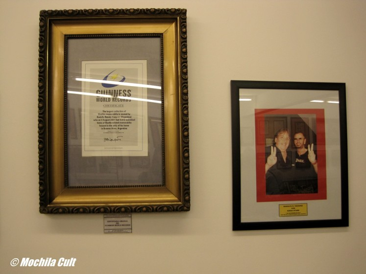 Certificado do Guinness e Rodolfo com Ringo Star
