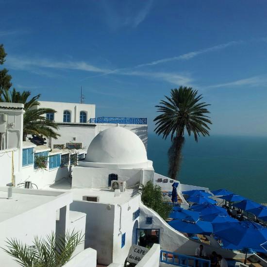Um dos lugares que a Livia mais gostou, livia Sidi Bousaid, Tunísia