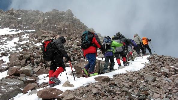 O grupo que subiu o Aconcágua junto com o Paul. Foto: Paul White