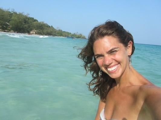 Carol Moreno no Camboja