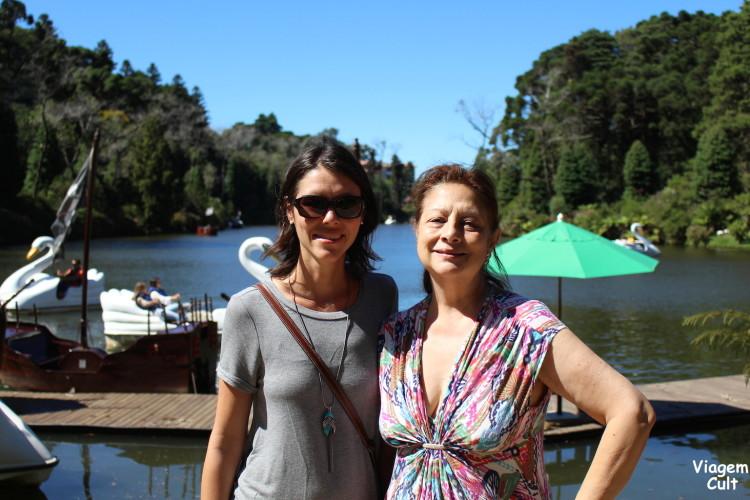 Eu e mamis no Lago Negro