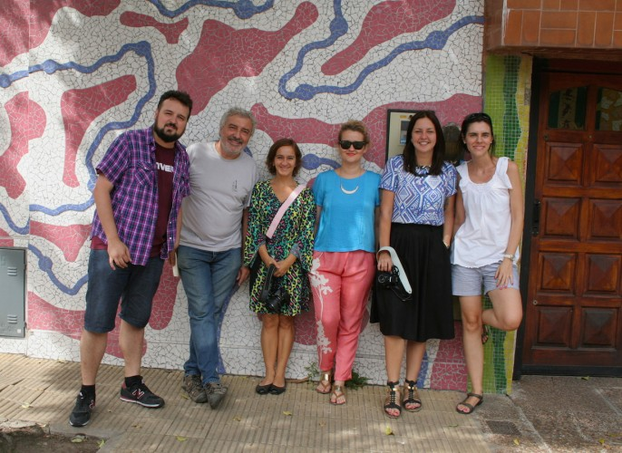 Vários blogueiros participamos do tour nesse dia